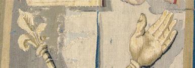 Restauration d'une tapisserie d'Aubusson : toilage respectant les couleurs