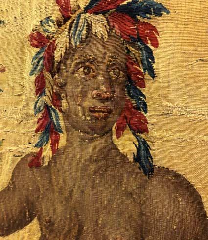 """Tapisserie """"Les pécheurs indiens"""", de la série des Anciennes Indes (Tenture des Indes), réalisée à la Manufacture royale des Gobelins vers 1737-1741, est conservée au Musée Jacquemart-André."""
