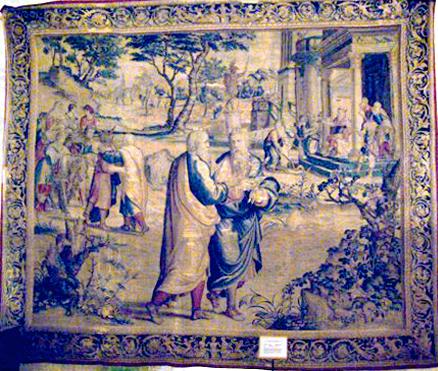 Nettoyage de tapisserie ancienne