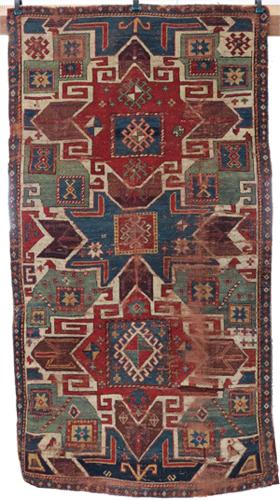 Restauration conservation d'un très beau tapis kazak