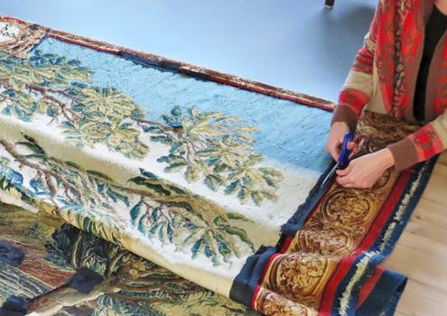 Traitement en conservation d'une tapisserie d'Aubusson (milieu XVIIIe siècle)
