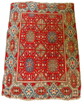 Restauration conservation de tapis : tapis de Damas du XVIe siècle (Musée Jacquemart André).