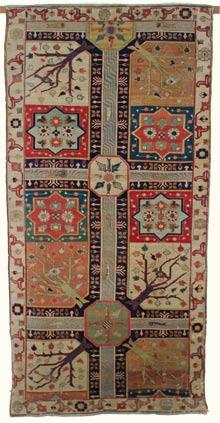 Restauration conservation d'un tapis ancien du Kurdistan