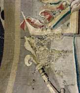 Restauration d'une tapisserie d'Aubusson. Musée de Vannes