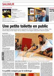 Article paru dans Le Courrier de l'Ouest Saumur.