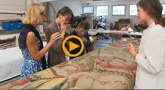 Une tapisserie monumentale de la Renaissance, appartenant à la ville de Beauvais, a été restaurée par Bobin Tradition dans ses ateliers de Bonneuil-sur-Marne.