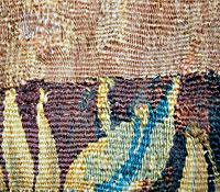Détail après restauration conservation de tapisserie : « La mise à mort du cerf »