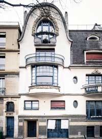 Façade de l'ancien atelier de Paul Follot où s'est implanté l'Institut Giacometti.