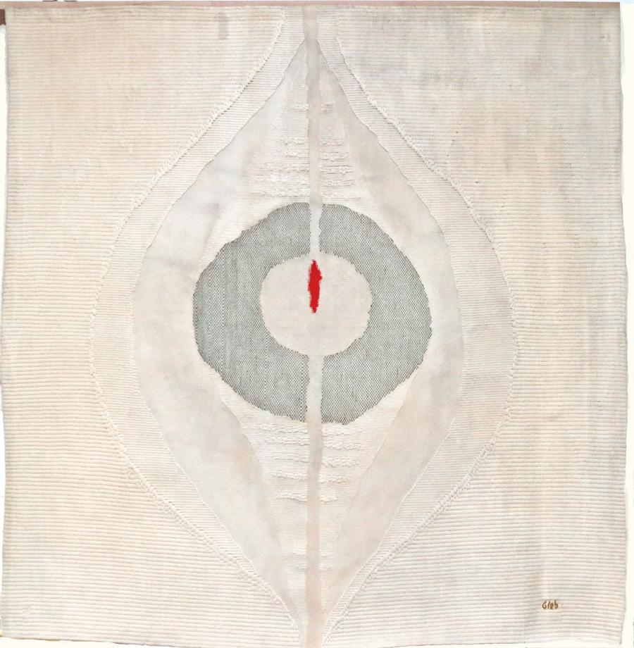 """""""Les noces de l'agneau"""", tapisserie contemporaine d'après un carton de Thomas Gleb (Hôtellerie de la Sainte Baume)."""