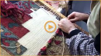 Restauration conservation de tapis : retissage des bordures