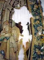 Restauration conservation de tapisserie ancienne endommagée